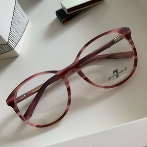 7 FOR ALL MANKIND pink eyeglass frames NWT